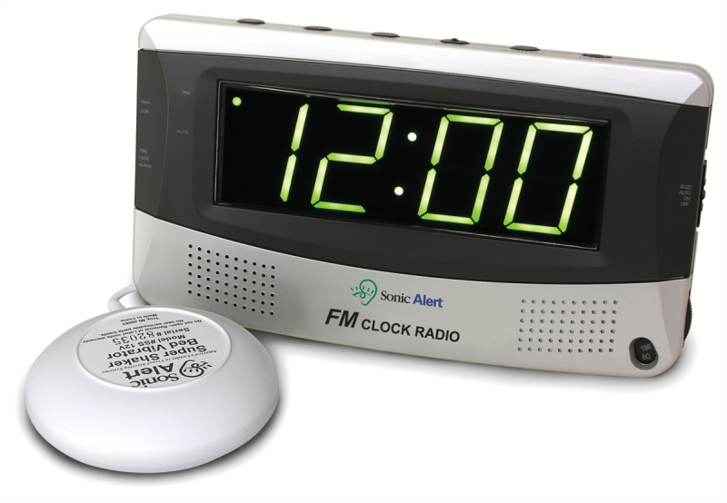 Alarm Clock and AM / FM Radio with Super Shaker™ - SBR350ss