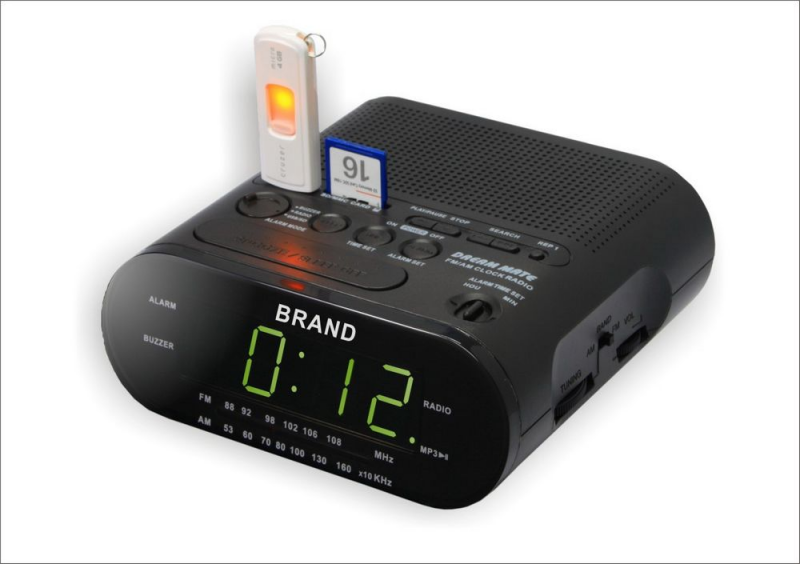 All Products >> RADIO >> ALARM CLOCK RADIO WITH USB SD CARD RADIO