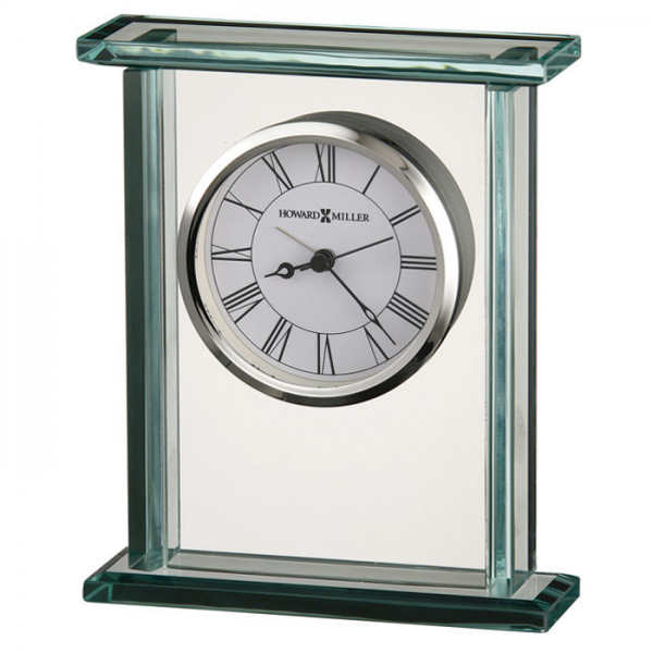 NEW Cooper Glass & Chrome Table Clock