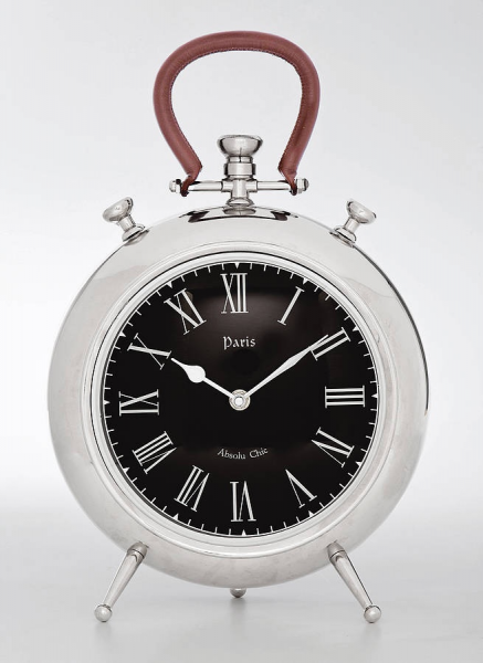 Paris Chrome Table Clock | Decoration | Pinterest